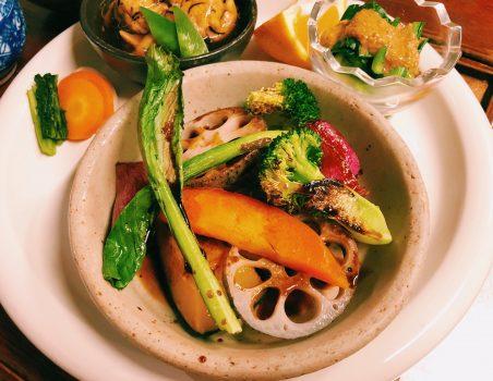 彩り野菜のステーキ!