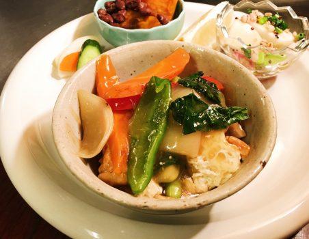 彩り野菜と厚揚げの八宝菜できました!