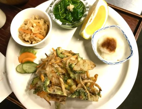 サクサク夏野菜と根菜のかき揚げ!